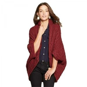 NWT Universal Thread Open Cardigan Sweater XS Red